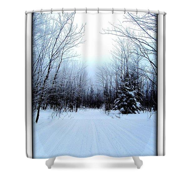 Winterlude In Abitibi Temiscamingue Quebec  Shower Curtain