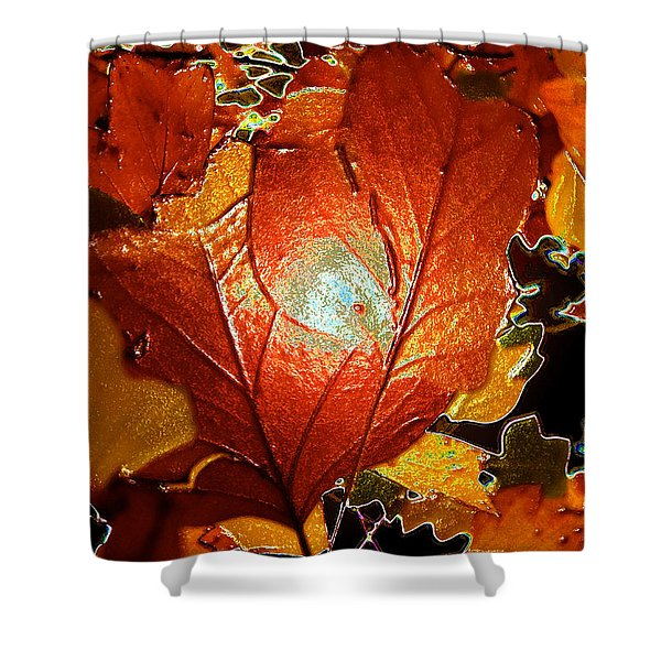 winters autumn in Pasadena Shower Curtain