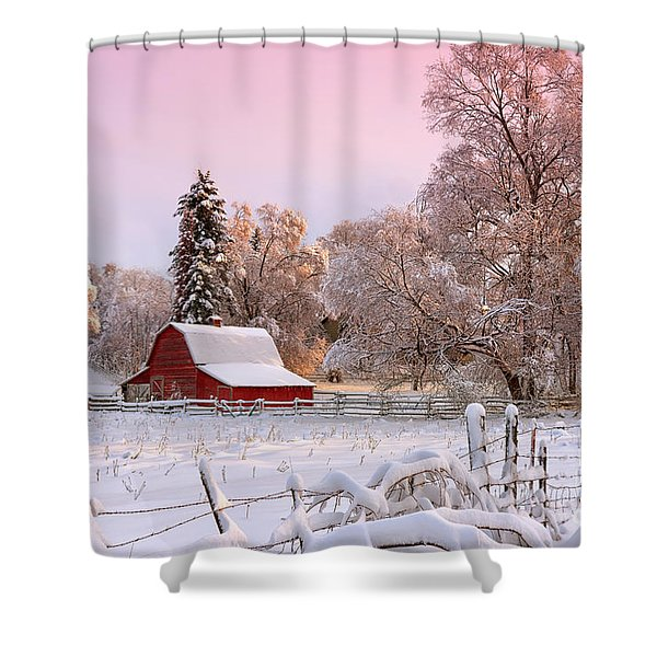 Winters Glow Shower Curtain
