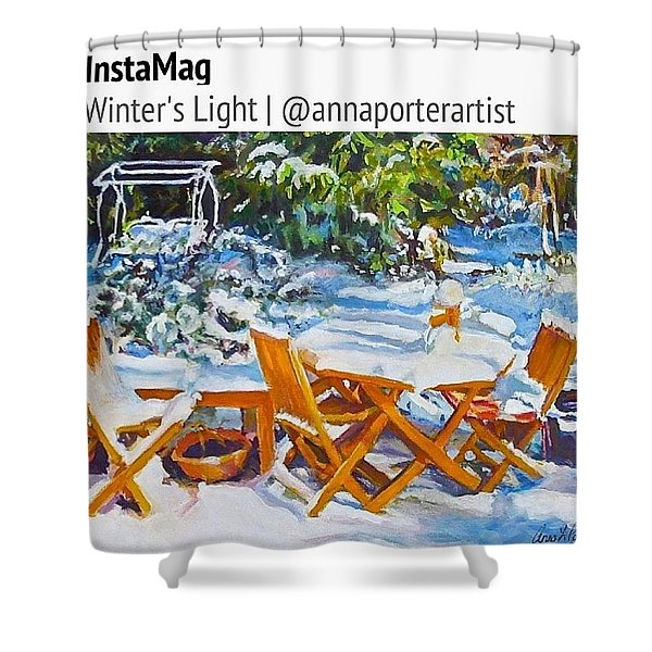 Winter's Light Shower Curtain