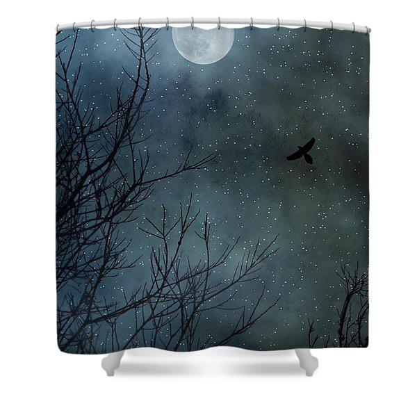 Winter's Silence Shower Curtain