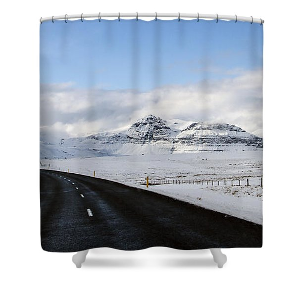 Winter's Way Shower Curtain