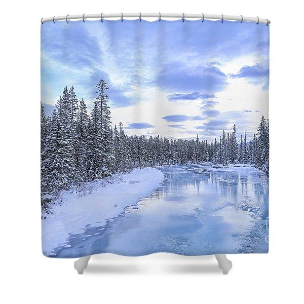Wintery Shower Curtain