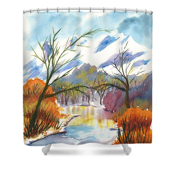 Wintry Reflections Shower Curtain