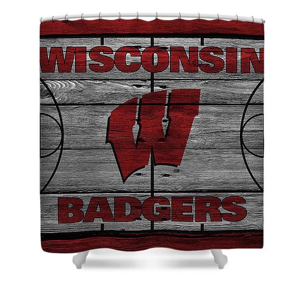 Wisconsin Badger Shower Curtain