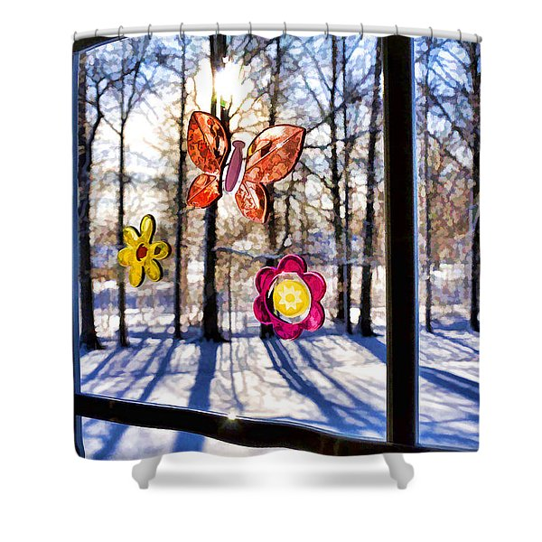 Wishing For Spring 1 Shower Curtain