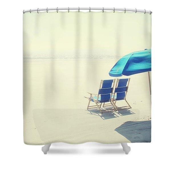 Wishing You Were Here Shower Curtain
