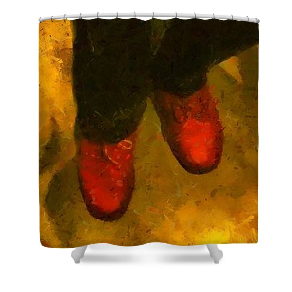 Witch Walking Shower Curtain