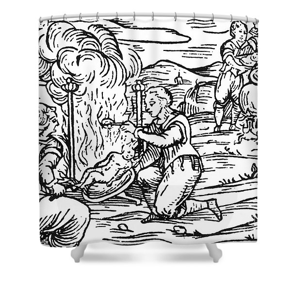 Witches Roasting And Boiling Infants Shower Curtain