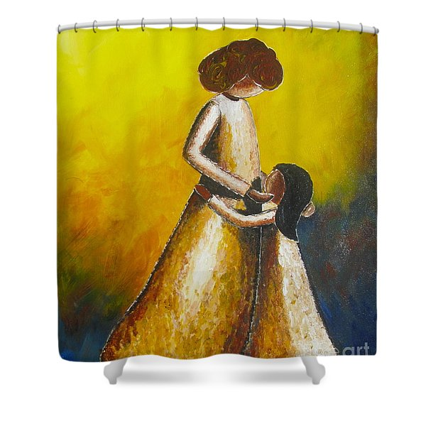 With Her Shower Curtain
