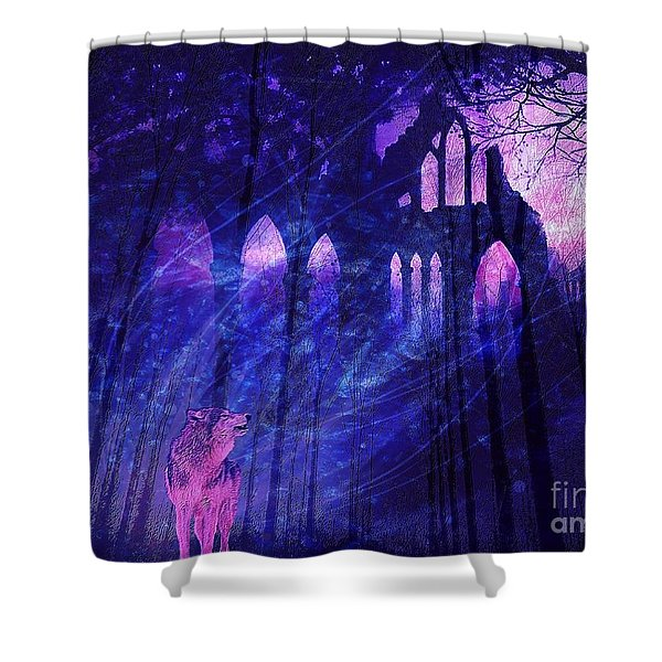 Wolf And Magic Shower Curtain