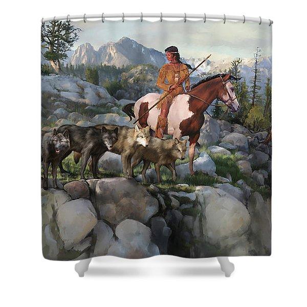 Wolf Maiden Shower Curtain