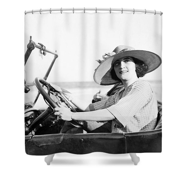 Woman Driving, C1921 Shower Curtain