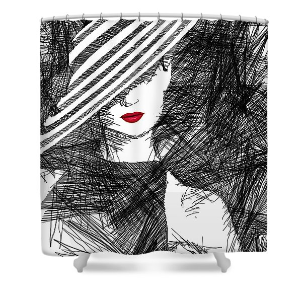 Woman With A Hat Shower Curtain