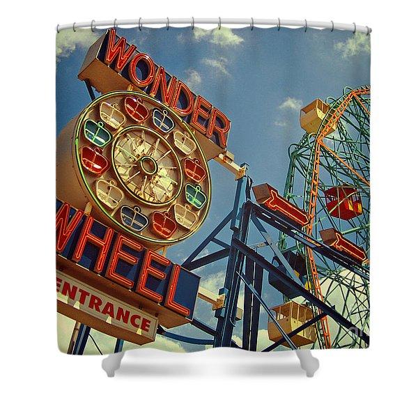 Wonder Wheel - Coney Island Shower Curtain