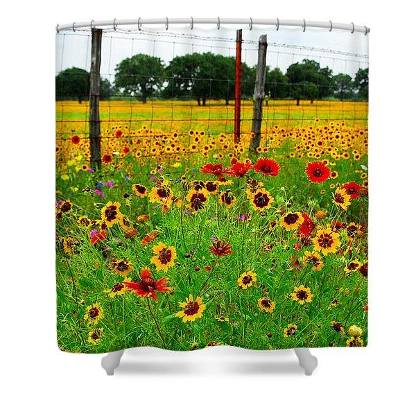 Wonderful Wildflowers Shower Curtain