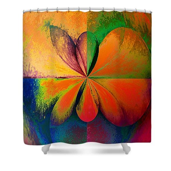 Wood Study 01 Quadrant Shower Curtain