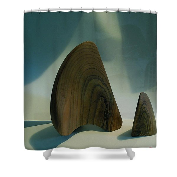 Wood Zen Harmony Shower Curtain