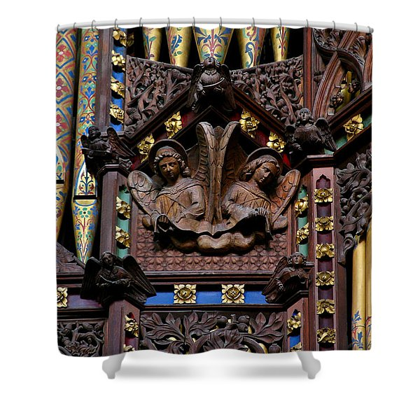 Wooden Angels Ely Cathedral Shower Curtain