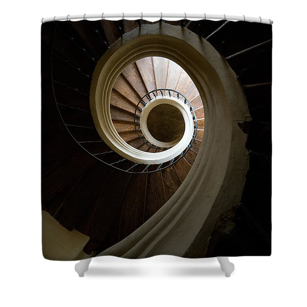 Shower Curtain featuring the photograph Wooden Spiral by Jaroslaw Blaminsky