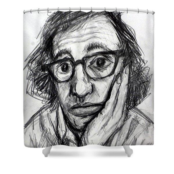 Woody Allen Shower Curtain