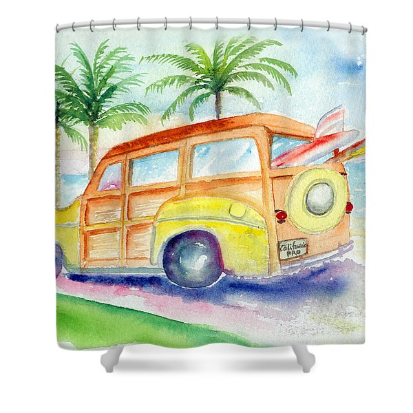Shower Curtain featuring the painting Woody by Lynn Buettner