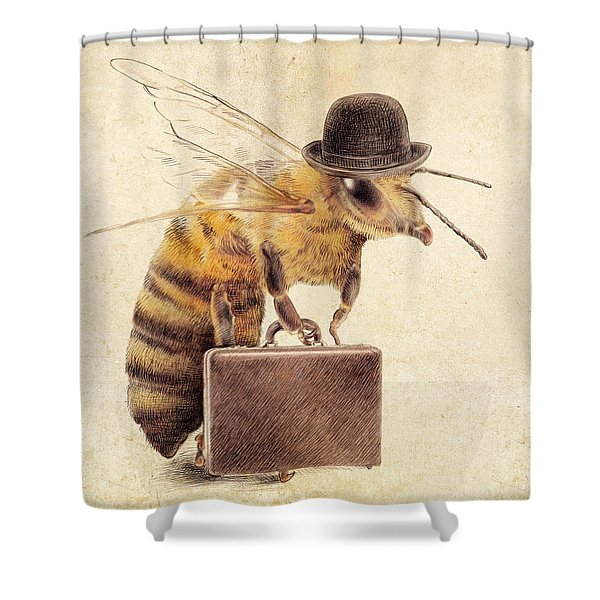 Worker Bee Shower Curtain