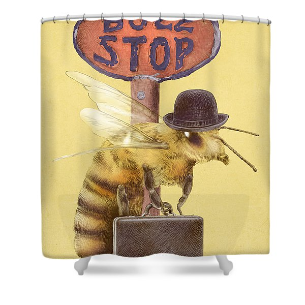 Worker Bee Yellow Option Shower Curtain