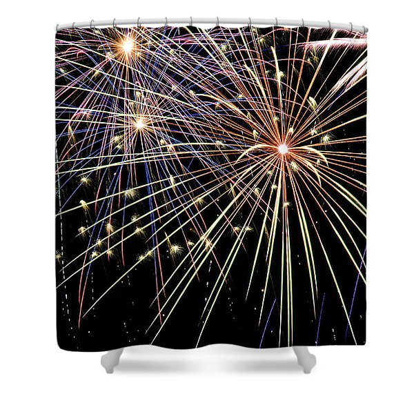 Works Of Fire Shower Curtain