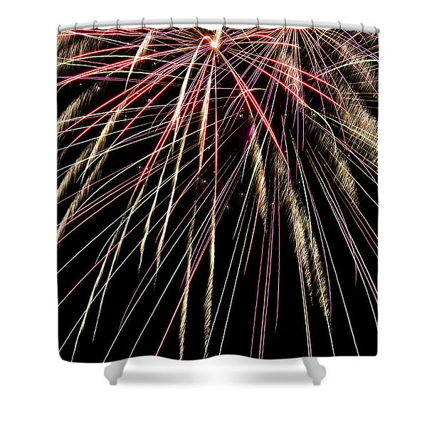 Works Of Fire V Shower Curtain