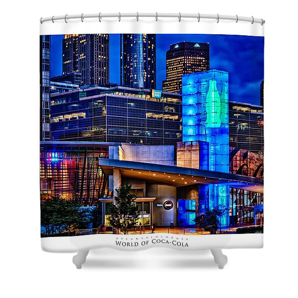 World Of Coca Cola Poster Shower Curtain