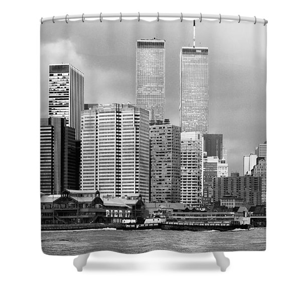 New York City - World Trade Center - Vintage Shower Curtain