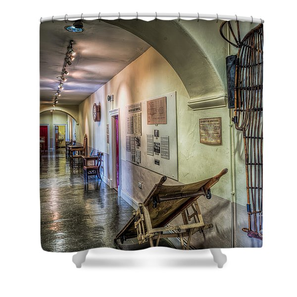 Woven Stretcher  Shower Curtain