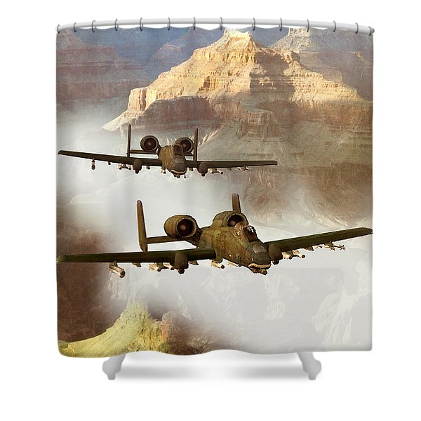 Wrath Of The Warthog Shower Curtain