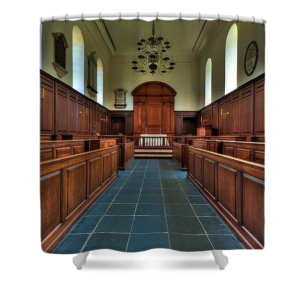 Wren Chapel Interior Shower Curtain