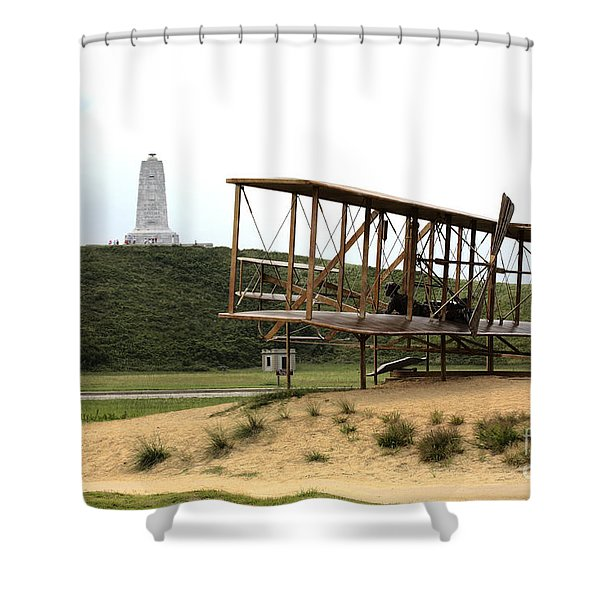 Wright Brothers Memorial At Kitty Hawk Shower Curtain