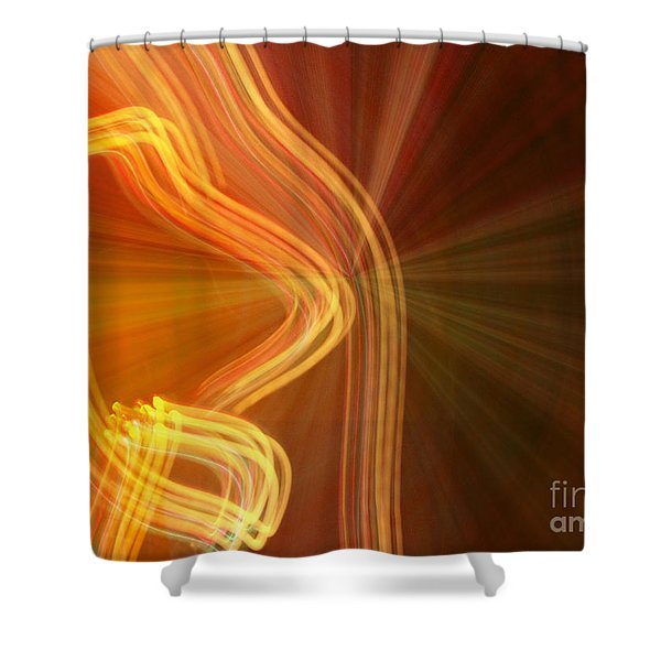 Write Light Shapes Shower Curtain