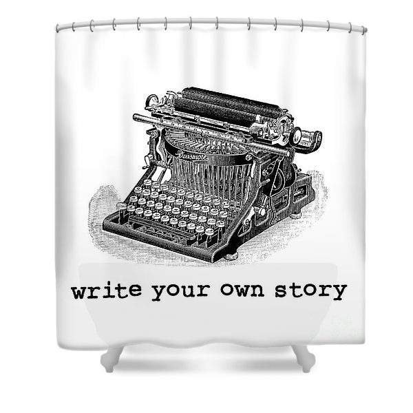 Write Your Own Story Shower Curtain