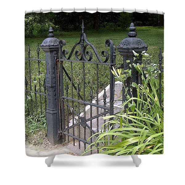 Wrought Iron Gate Shower Curtain