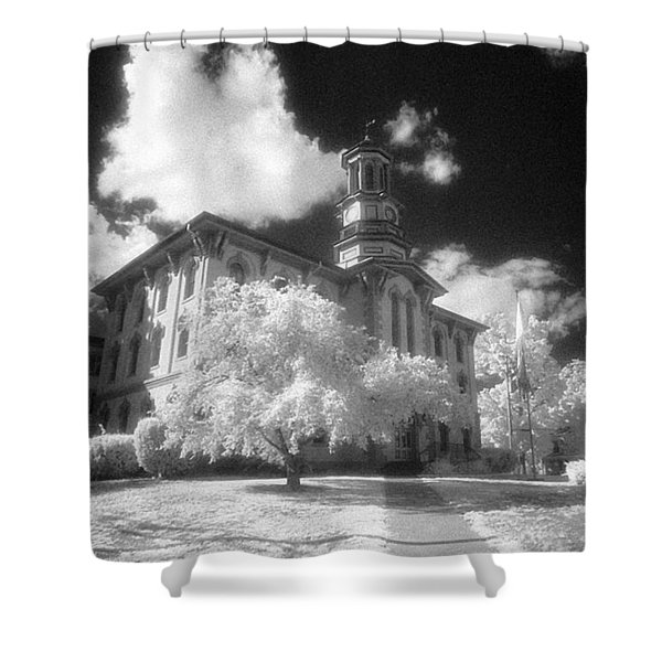 Wyoming County Courthouse Shower Curtain