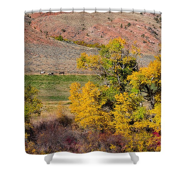 Wyoming Horse Country Shower Curtain