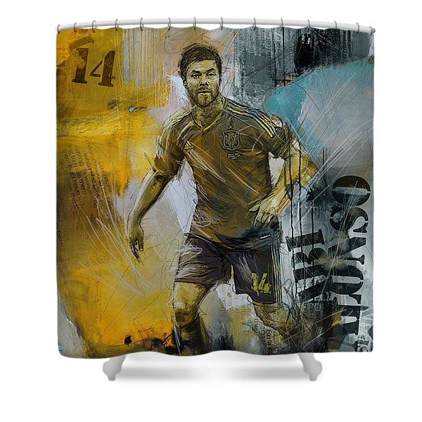Xabi Alonso - B Shower Curtain