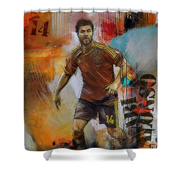 Xabi Alonso Shower Curtain
