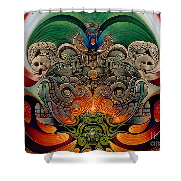 Xiuhcoatl The Fire Serpent Shower Curtain