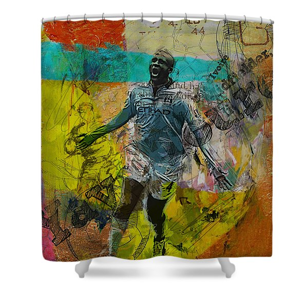 Yaya Toure - B Shower Curtain