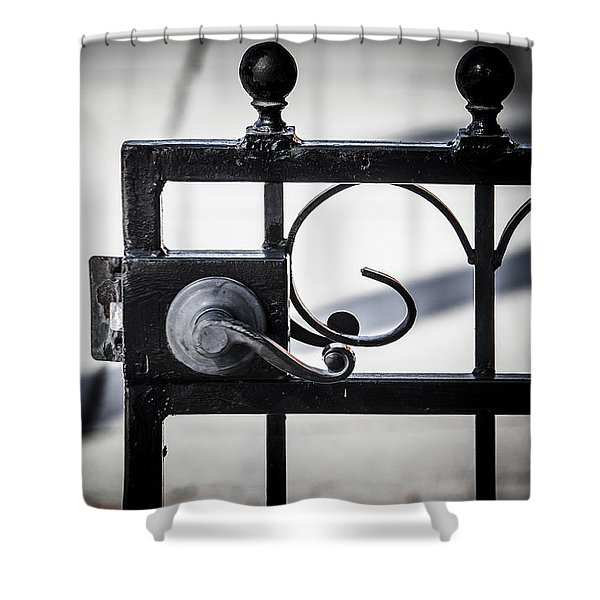 Shower Curtain featuring the photograph Ybor City Gate by Carolyn Marshall