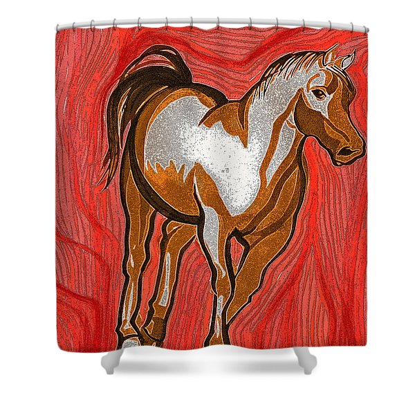Year Of The Horse By Jrr Shower Curtain