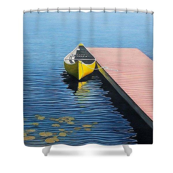 Yellow Canoe Shower Curtain