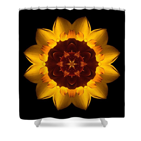 Yellow Daffodil I Flower Mandala Shower Curtain