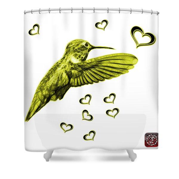 Yellow Hummingbird - 2055 F S M Shower Curtain